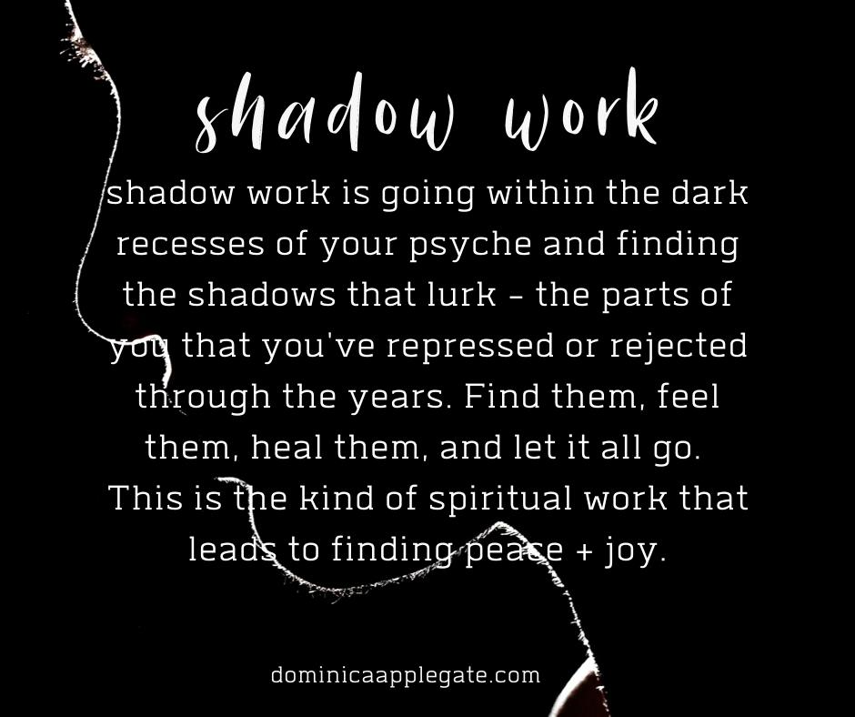 shadow work jung
